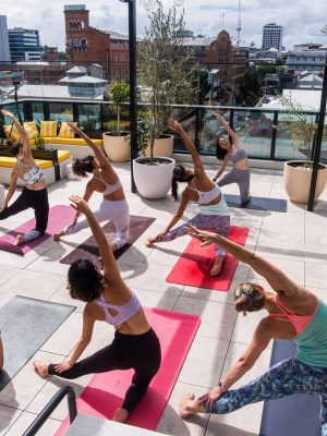brisbane rooftop yoga cielo